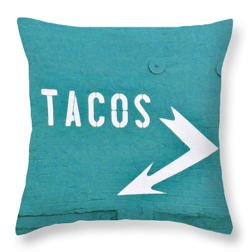 Taco Throw Pillow featuring the photograph Tacos by Art Block Collections