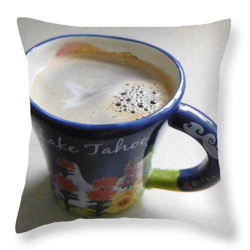 Coffee Throw Pillow featuring the photograph Tahoe Coffee by Paddy Shaffer