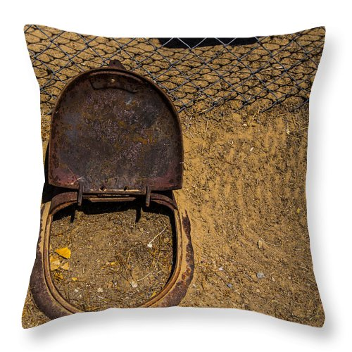 Bottleneck Ranch Throw Pillow featuring the photograph Take A Seat by Angus Hooper Iii