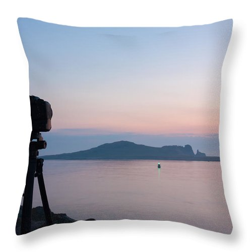 Black Throw Pillow featuring the photograph Take That Photo by Semmick Photo