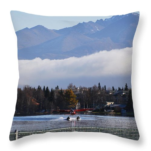 Takeoff Throw Pillow featuring the photograph Takeoff 1 by Richard Booth