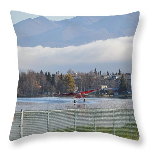 Takeoff Throw Pillow featuring the photograph Takeoff 2 by Richard Booth