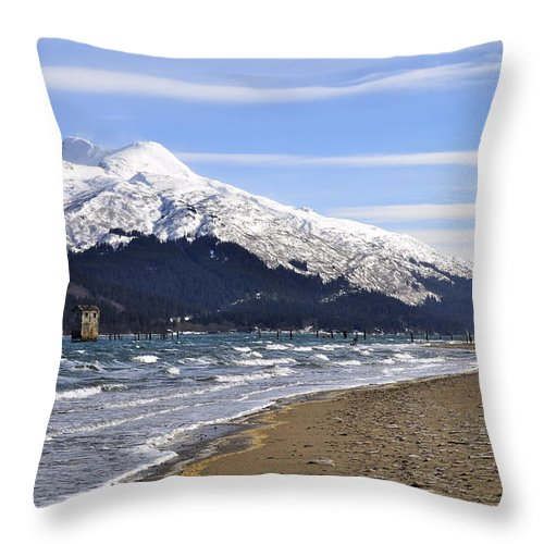 Wind Throw Pillow featuring the photograph Taku Winds by Cathy Mahnke