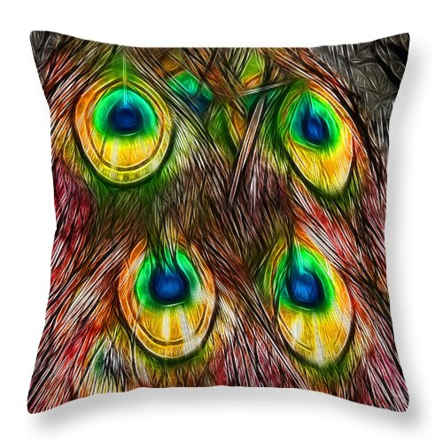 Tale Of A Tail Throw Pillow featuring the photograph Tale Of A Tail by Kasia Bitner