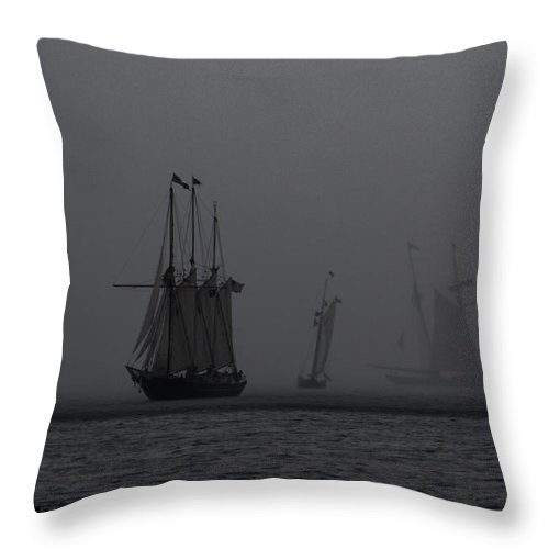 Throw Pillow featuring the photograph Tall Ships by Sue Conwell