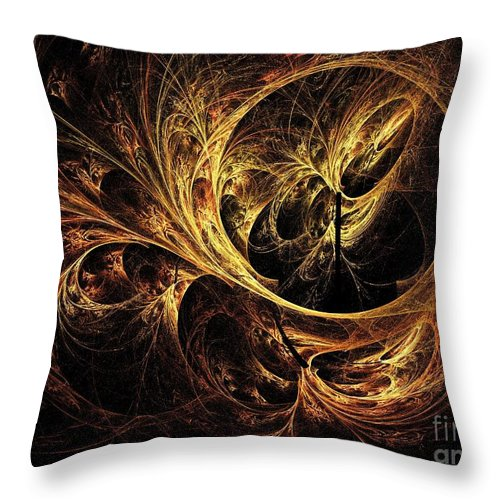 Tapestry Throw Pillow featuring the digital art Tapestry by Elizabeth McTaggart