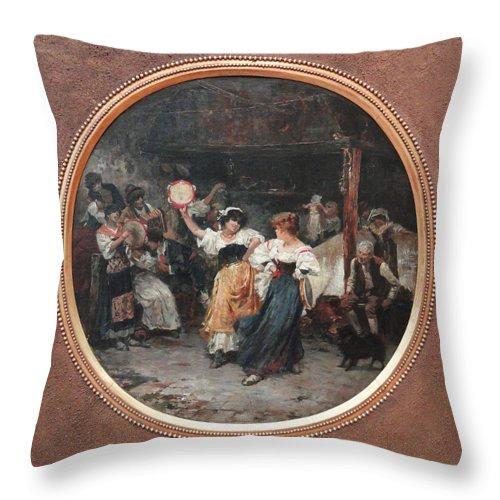 Henrique Bernardelli Throw Pillow featuring the digital art Tarantella by Henrique Bernardelli