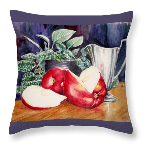Still Life Throw Pillow featuring the painting Tarnished by Danny Helms
