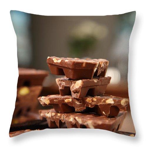Chocolate Throw Pillow featuring the photograph Tasty Chocolate by Roberto Giobbi