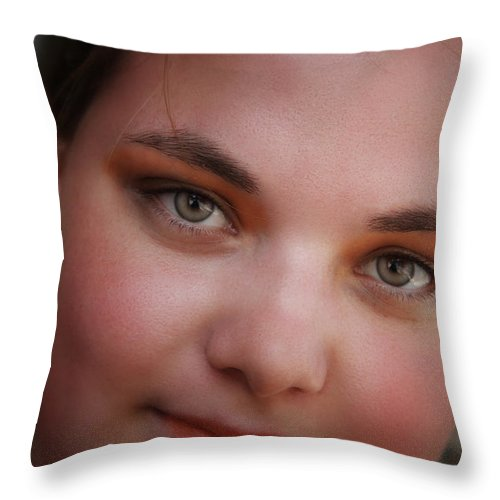 Throw Pillow featuring the photograph Taylor And Her Eyes by John Herzog
