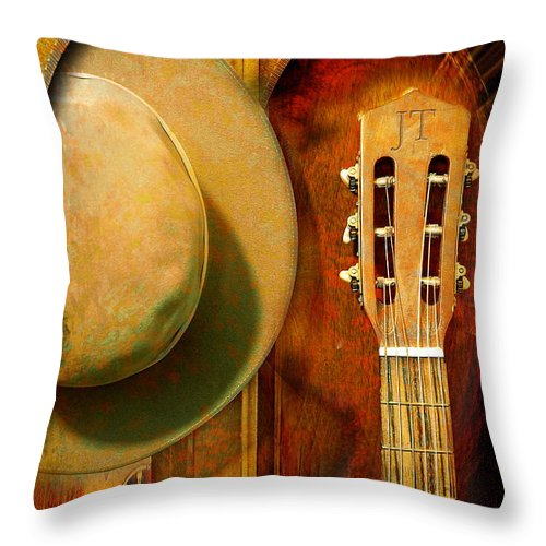 Music Throw Pillow featuring the photograph Taylor Made by John Anderson