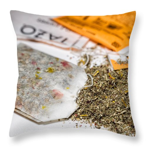 Tea Throw Pillow featuring the photograph Tea by Marianne Donahoe