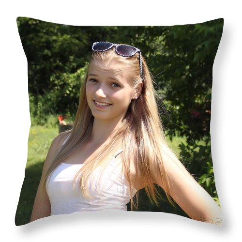 Teen Throw Pillow featuring the photograph Teen Beauty by Janice Byer