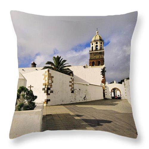 Lanzarote Throw Pillow featuring the photograph Teguise On Lanzarote by Karol Kozlowski