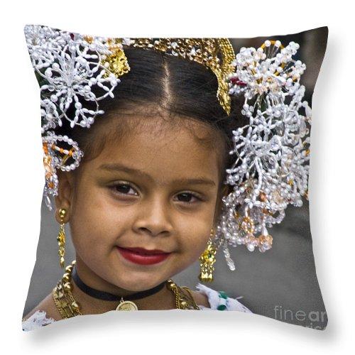 Throw Pillow featuring the photograph Tembleque Headdress by Heiko Koehrer-Wagner