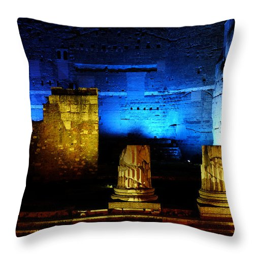 Rome Throw Pillow featuring the photograph Temple Of Mars Ultor by Fabrizio Troiani