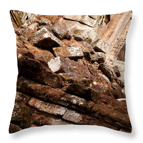 Ruined Throw Pillow featuring the photograph Temple Ruins 04 by Rick Piper Photography
