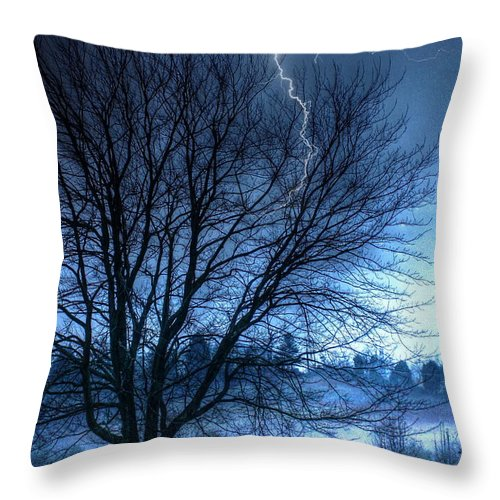 Abstract Throw Pillow featuring the photograph Tempting Fate by Dan Stone