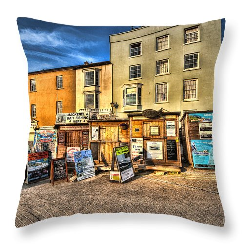 Tenby Boat Trips Throw Pillow featuring the photograph Tenby Boat Trips by Steve Purnell