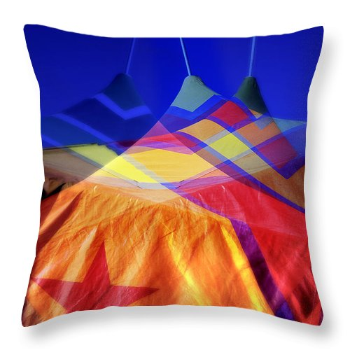 Tent Throw Pillow featuring the photograph Tent Of Dreams by Wayne Sherriff