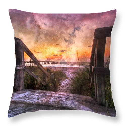 Clouds Throw Pillow featuring the photograph Tequilla Sunrise by Debra and Dave Vanderlaan