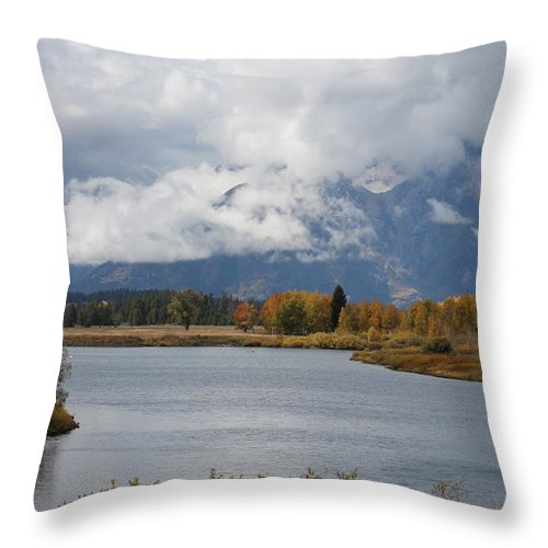 Throw Pillow featuring the photograph Tetons by G Berry