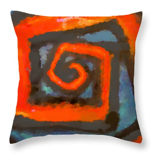 Abstract Throw Pillow featuring the painting Tex by Marcello Cicchini