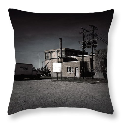Slaughterhouse Throw Pillow featuring the photograph Tcm #6 - Slaughterhouse by Trish Mistric