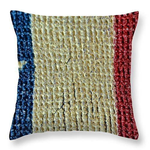 Texas Throw Pillow featuring the photograph Texas First Lone Star Dodson's Flag by Bill Owen