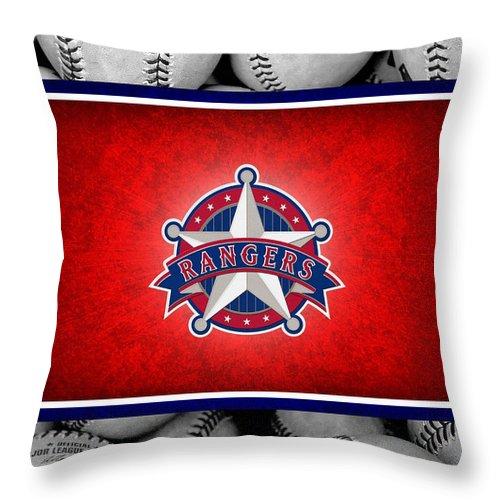 Rangers Throw Pillow featuring the photograph Texas Rangers by Joe Hamilton