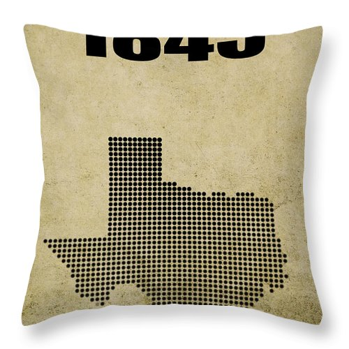 Texas Throw Pillow featuring the digital art Texas Statehood 2 by Daniel Hagerman
