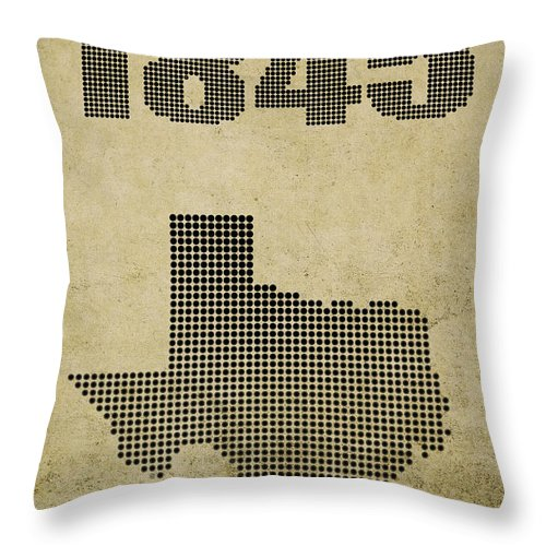 Texas Throw Pillow featuring the digital art Texas Statehood by Daniel Hagerman