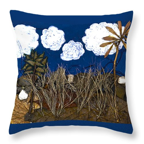 Landscape Throw Pillow featuring the mixed media Texture From The Series The Elements And Principles Of Art by Verana Stark