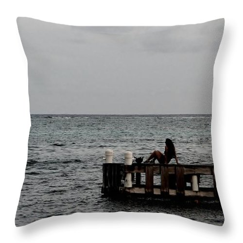 Color Throw Pillow featuring the photograph T.g.i.f by Amar Sheow