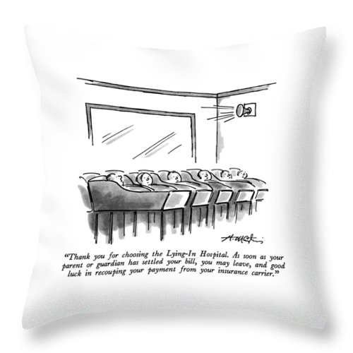 Thank You For Choosing The Lying In Hospital Throw Pillow For Sale By Henry Martin