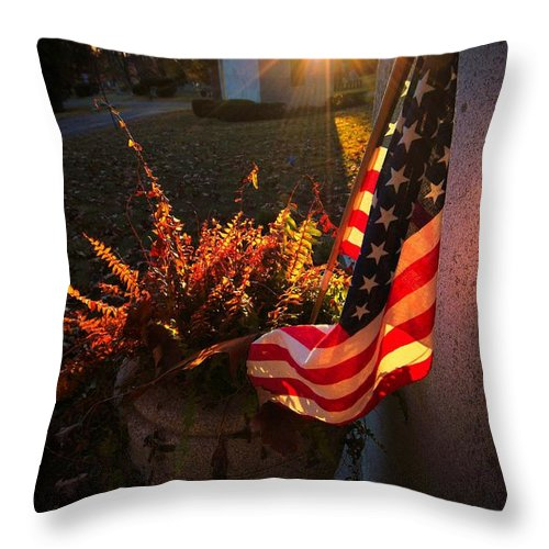 Patriotic Throw Pillow featuring the photograph Thank You For Serving by Robert McCubbin