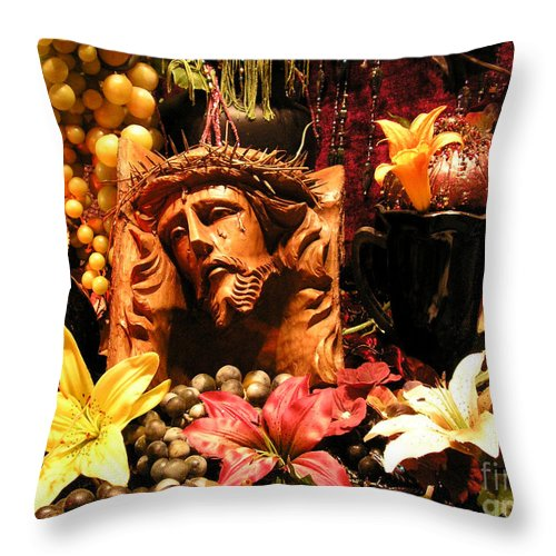 Jesus Throw Pillow featuring the photograph Thank You Jesus by Anthony Wilkening