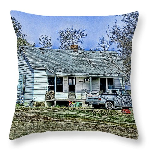 House Throw Pillow featuring the digital art That's Country by Bonnie Willis