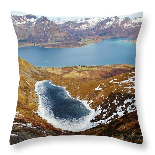 Norway Throw Pillow featuring the photograph Thawing Spring Fjordland Vista by David Broome