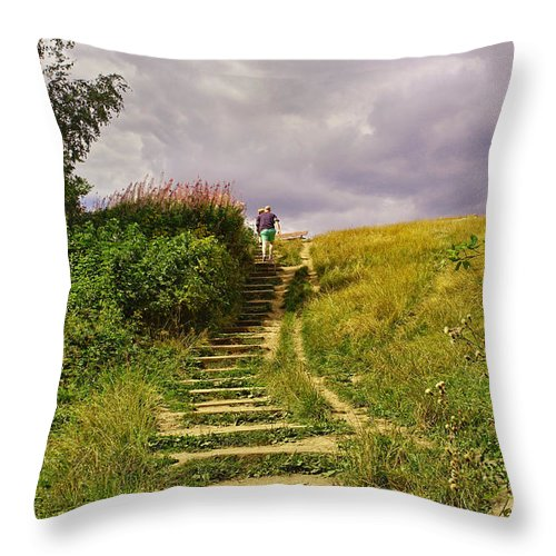 London Throw Pillow featuring the photograph The 23 Steps On Parliament Hill by Nicky Jameson