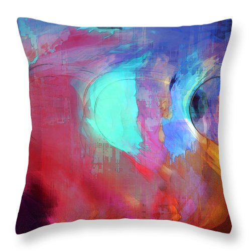 Abstract Throw Pillow featuring the digital art The Afterglow by Linda Sannuti