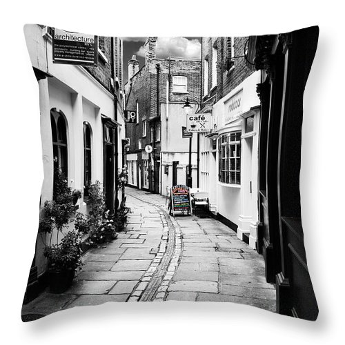 Alley Throw Pillow featuring the photograph The Alley by Mark Rogan