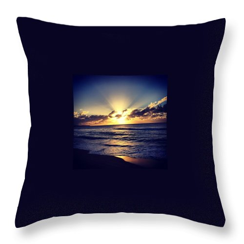 Landscape Throw Pillow featuring the photograph Summer Glow by Nic Westaway