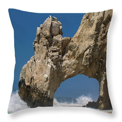 Scenics Throw Pillow featuring the photograph The Arch Of Los Cabos San Lucas by Marc Javelly