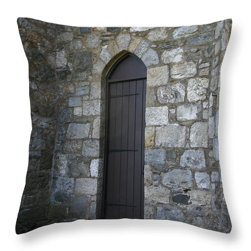 Back Door Throw Pillow featuring the photograph The Back Door by Denyse Duhaime