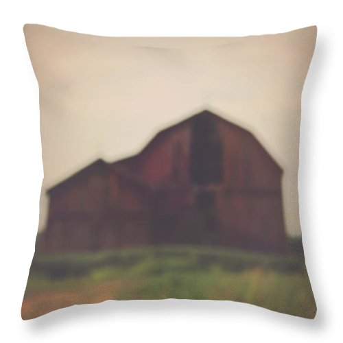 Carrie Ann Grippo-pike Throw Pillow featuring the photograph The Barn Daylight Version by Carrie Ann Grippo-Pike