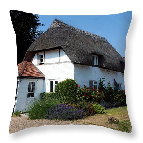 Nether Wallop Throw Pillow featuring the photograph The Barn House Nether Wallop by Terri Waters