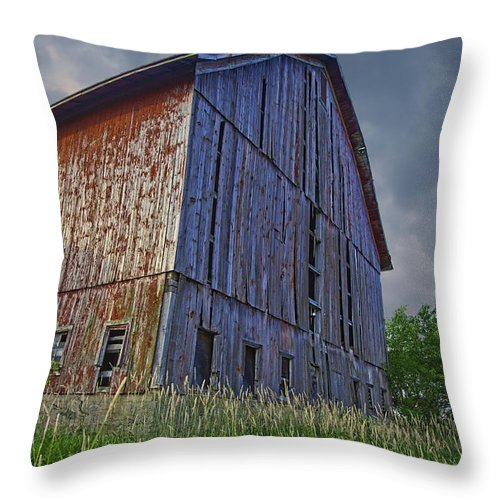 Barn Throw Pillow featuring the photograph The Barn by John Crothers
