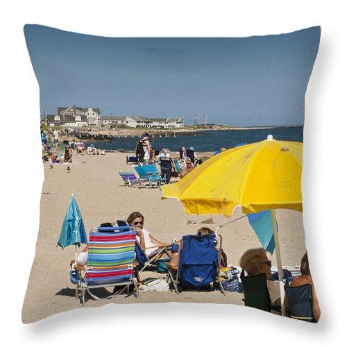 Beach Throw Pillow featuring the photograph The Beach by Dennis Coates