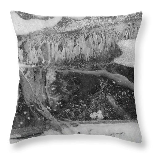 Abstract Throw Pillow featuring the photograph The Beauty Of Ice by Tonya Hance